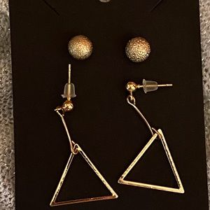 Matches our necklace. 2 pair earrings set new